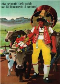 Vintage Swiss poster - discovering the rentals of a country
